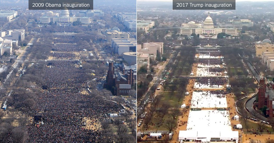 Image result for inauguration trump vs obama