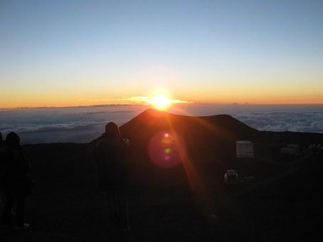 Hawaii, Big Iland, Mauna Kea, Sunset