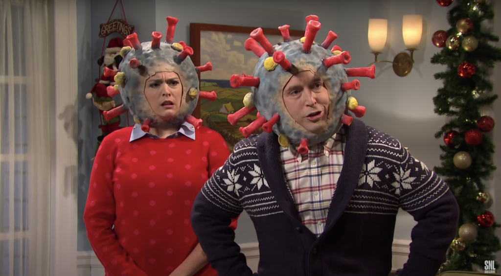 Example of comedic response to COVID-19 (from SNL)