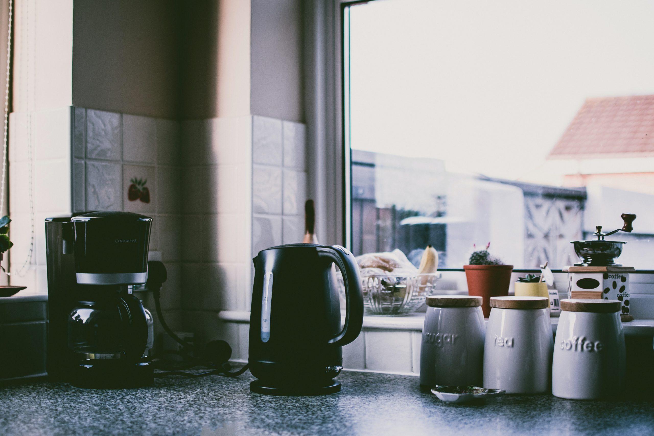 coffee machine on counter