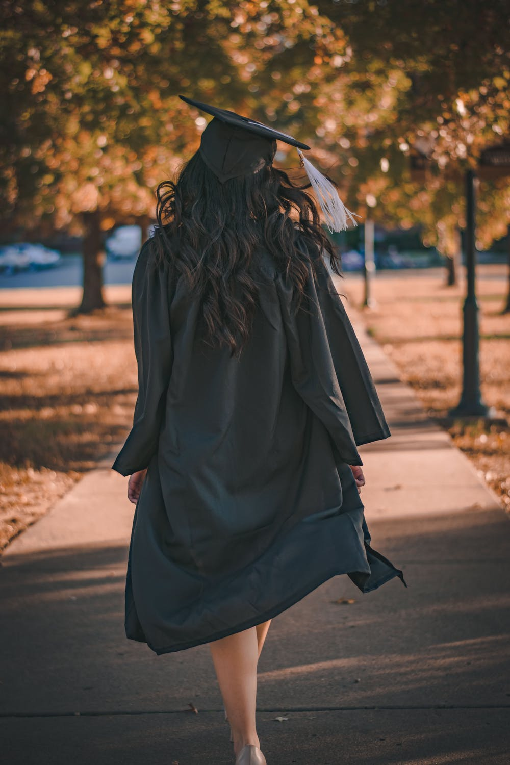 image of a girl in a graduation gown