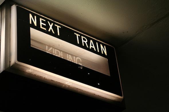 Next Train sign