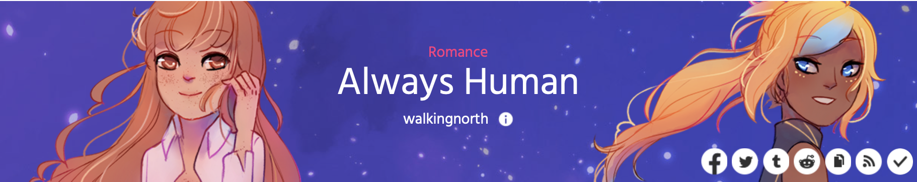 The cover image of Always Human by walkingnorth on Webtoons.