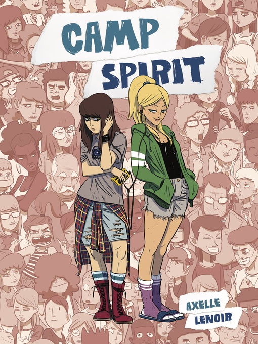 The book cover of Camp Spirit by Axelle Lenoir.