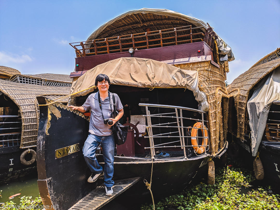Travelling Foodie Raymond Cua staying overnight on a houseboat in India