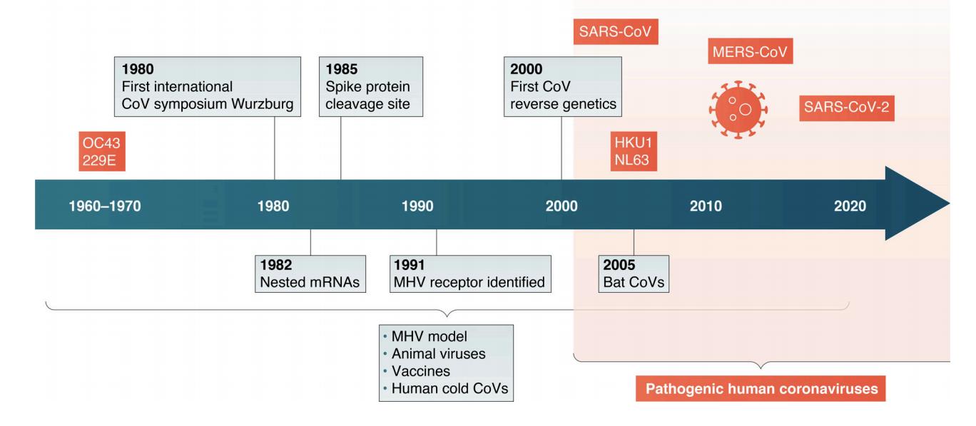 Timeline of coronavirus research